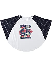 Poppers By Pantaloons Girls' Floral Regular Fit T-Shirt