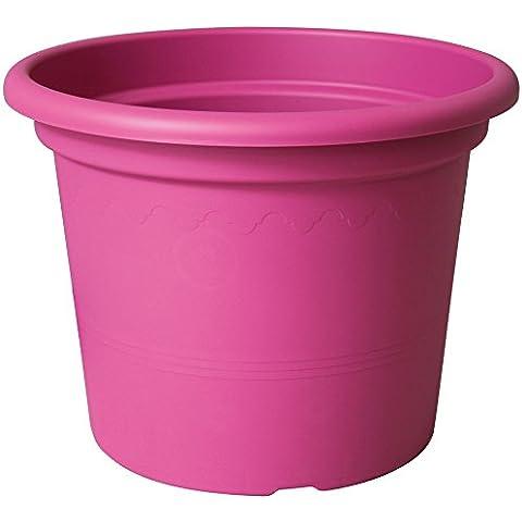 Euro3Plast 1975.44 - Maceta (plástico), color rosa, 25 cm x 19,5 cm
