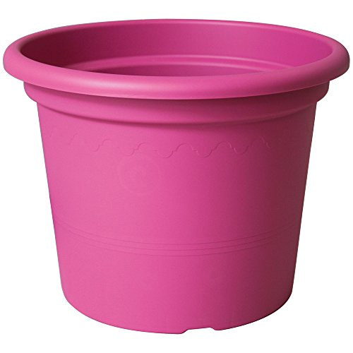 Euro3Plast 1975.44 - Maceta de plástico, 25 cm x 19,5 cm, color rosa