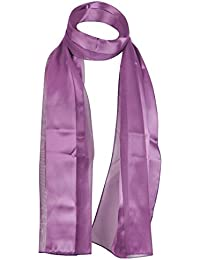 Classic Plain Shiny Scarf Light Weight SOFT Silky Satin Chiffon Strip Fabric Luxurious Finishing Touch To Any Outfit
