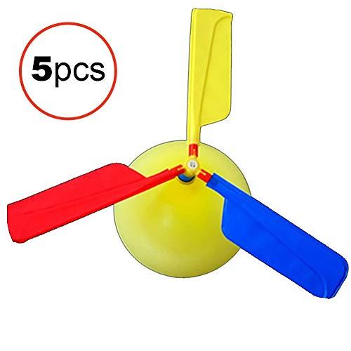 Sungpunet Kinderballon-Hubschrauber-Flugzeug-Ballon-Power-Hubschrauber Fliegen Spielzeug Tag des Kindes Geschenk-Partei-Ostern-Geschenk (zufällige Farbe) 5 PCS