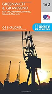 OS Explorer Map (162) Greenwich and Gravesend