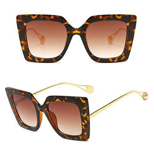 Pennyninis Damen-Brille, Retro-Stil, quadratischer Rahmen, Kunstperlen, vielseitig einsetzbar, 1 Stück One Size 2