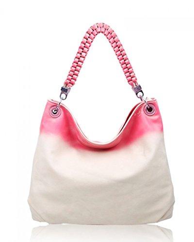 LeahWard schönes Qualität Schultertasche Taschen für Frau Kunstleder Damen Handtaschen Tasche 160422 C-Pearl