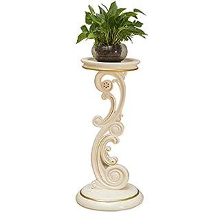 Europäische Flower Stand Floor Multi-Level-Wohnzimmer Simple Balcony Nachahmung Holz Flower Stand Elfenbein White American Green Flower Stand