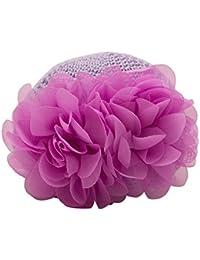 NeedyBee Caps for kids Crochet With Flower (Purple)