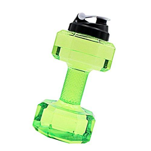 Espeedy Portable 2.2L PETG Große Wasserflasche Sport Hantel Form Gym Fitness Wasserkocher