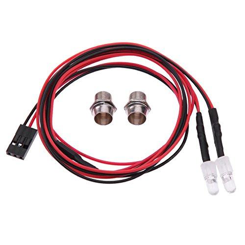 5 mm lumière blanc 2 LED Tail-lamp RC de voiture pièces de rechange pour Traxxas HSP HPI Redcat