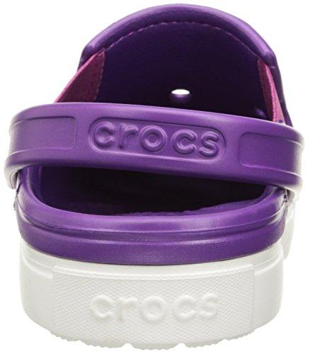 Crocs Citilane Clog Amt/Whi, Sabots Mixte Adulte Violet (Amethyst/White)