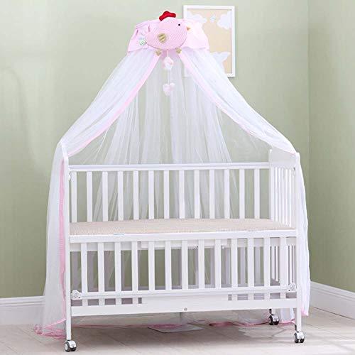Nbibsaacy Bebés Mosquiteros Mosquitera para Cuna con Bolsa para Mosquito Ronda Toldos mosquitero para Las cunas Cama con Dosel,Pink