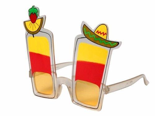 Sonnenbrille Funbrille Partybrille Spaßbrille Diskobrille Karneval viele Modelle, Brille wählen:F-025 Tequila