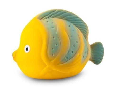 La le poisson-papillon - Caoutchouc naturel jouet de bain - Certifiée non toxique: sans BPA, PVC, phtalate, nitrosamine et peinte à la peinture de qualité alimentaire
