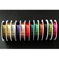 11PCS Mix Farben 0,3mmx20m Kupfer Draht Gewinde Midge Larven Nymphe Fliegenfischen Köder Köder Rippung Körper macht Fliegen Binden Materialien