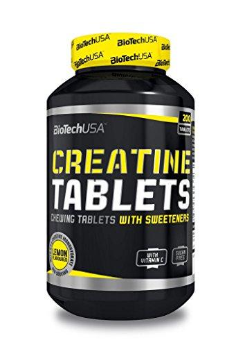 5 x Biotech USA Creatine + Vitamin C, 200 Kautabletten (5er Pack)