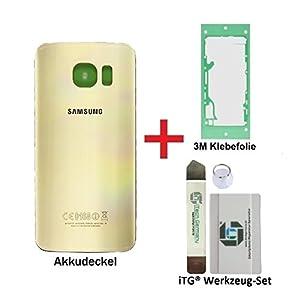 iTG® PREMIUM Copertura della batteria kit di sostituzione per Samsung Galaxy S6 Oro (Gold Platinum) - Pannello posteriore per SM-G920F +