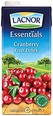 Lacnor Essentials Cranberry Fruit Drink, 1 Litre