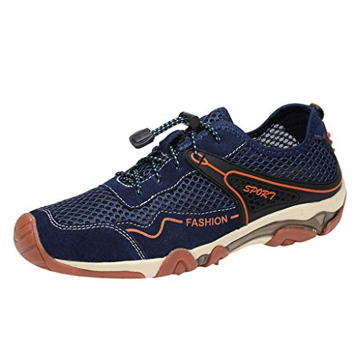 JYJM Freizeitschuhe Atmungsaktive Herren Mesh Outdoor Sneakers Schuhe Herren Slipper Mode Flach Low-Top-Schuhe Turnschuhe rutschfest Bequeme Strandschuhe