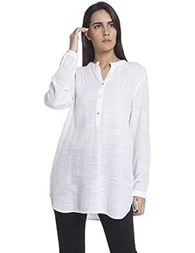 Vero Moda Vmina L/S Tunic Shirt a, Blusa para Mujer