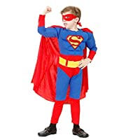 Super Hero Costume - Child - Dress - Super Heroes - Carnival - Warm - Muscles - Height - Child - Gift idea for Christmas and Birthday
