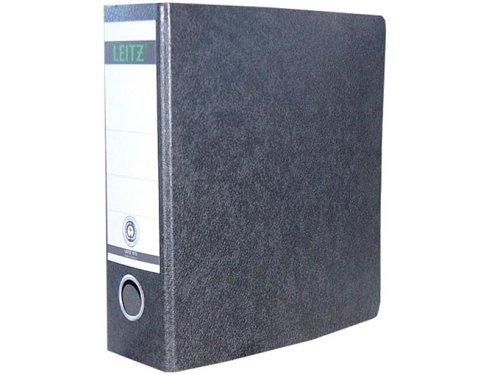 Leitz 10750000 Qualitäts-Ordner (für Sonderformate, A5 (hoch), 8 cm Rückenbreite, Hartpappe (RC)) schwarz Rc Notebook