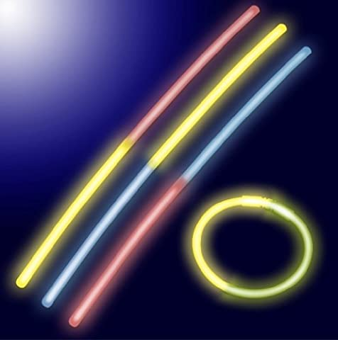 Ioio - Batons Sticks Bicolores Lumineux Fluorescents - Tube de 100 sticks