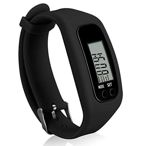 GOGOCC Schrittzähler Fitness-Tracker-Uhr Einfach Bedienung Gehen Laufen Schrittzähler mit Kalorienverbrennung und Schritte zählen