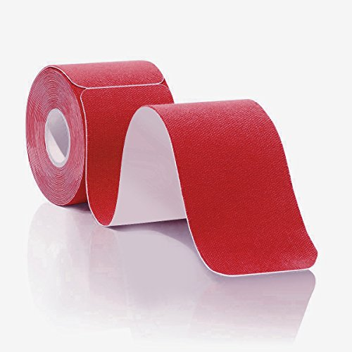 V.point Kinesiologie Tape Vorschnitt 5mx5cm Elastisches Farben Rolle Kinesio Tape Knie Physiotape Rote