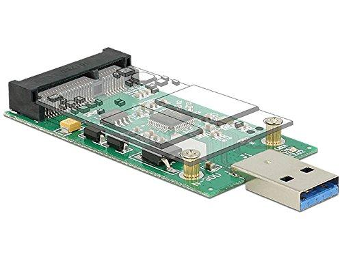 Preisvergleich Produktbild DELOCK Konverter USB 3.0 A Stecker > mSATA