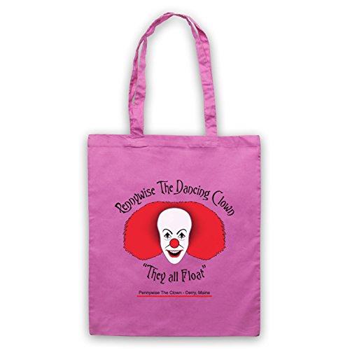 Inspiriert durch IT Pennywise The Dancing Clown Inoffiziell Umhangetaschen Rosa
