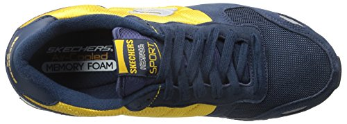 Skechers Originals Retros Cormac Fit Relaxed Cormac Fashion Sneaker Navy/Gold