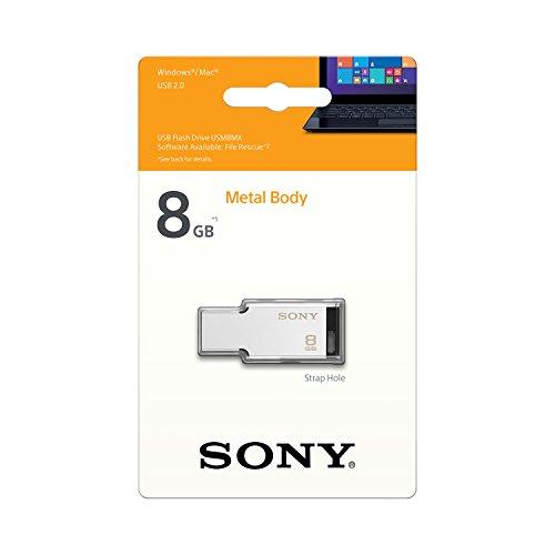 Sony Micro Vault Tiny USB 2.0 8GB Pen Drive (Silver)