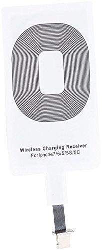 Callstel Wireless Charging: Receiver-Pad kompatibel mit iPhone 5c, 5s, 6, 6s, 6s Plus, 7, 7s, 7 Plus, SE (Qi kompatible Receiver Pads) Iphone Pad