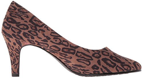 Stile Soft di Hush Puppies pompa Raylene Dress Chic Leopard Faux Suede