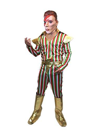 David Bowie Kostüm - Rubber Johnnies TM Erwachsene Herren Ziggy Stardust 70s 1970er Jahre David Bowie POP Star KOSTÜM Kostüm