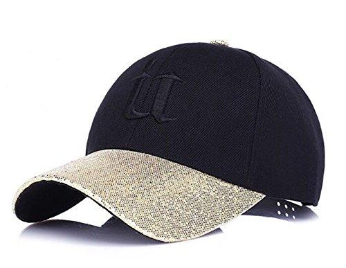 Kappen Für Frauen Baseball Caps Sport oder auf Reisen Mützen für Draussen Sun kappen NO-02 (Gold-021)