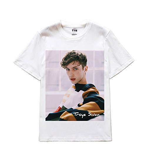 CosDaddy ® Troye Sivan DJ Mehrfarbig Blue Neighbourhood T-Shirt fashion Asien Size 6