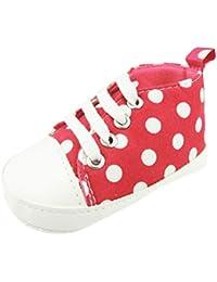 best cheap f6fe7 f9c57 Zapatillas de encaje para bebé, niños, niñas, con lunares, ...