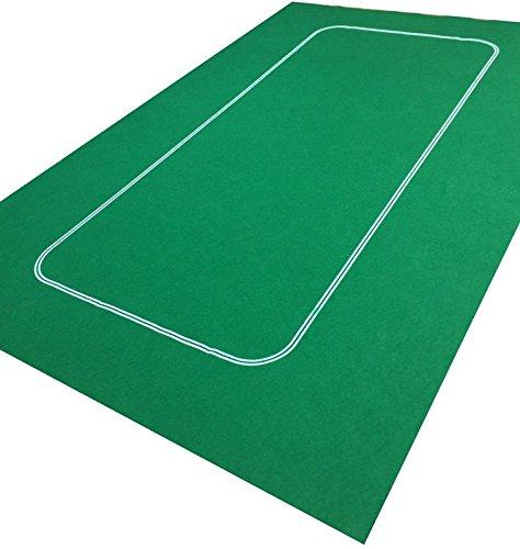 Grünes Spieltuch für Texas Holdem/Poker/Casino aus Filz, Poker/Spielkarten