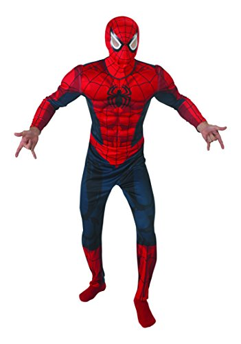 Rubie's 3888869 - Spider-Man Deluxe - Adult, Action Dress Ups und Zubehör, XL (Adult Deluxe Spiderman Kostüm)