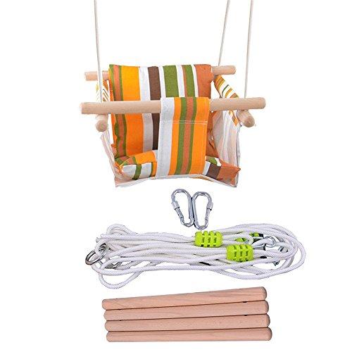 Yongliang altalena su tela baby, cestino per bebè in legno per asili nido (80kg)