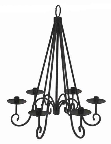 Hängeleuchter für 6 Kerzen Kerzenleuchter Kronleuchter Metall H 55 cm