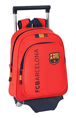 Barça – Mochila infantil con ruedas, color naranja (Safta 611462020)