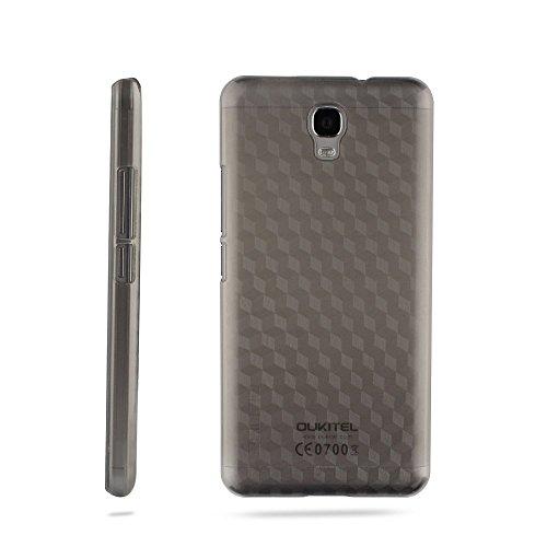 Owbb Hülle für Oukitel K6000 Plus Smartphone Handyhülle Ultradünne PC Kunststoff-Hard Case mit Backcover Design Hochwertige Anti-Wrestling Function Grau