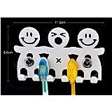 Soporte para cepillo de dientes (2 unidades, diseño con dibujos animados sonrientes)