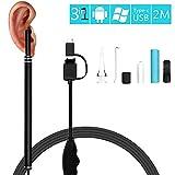 SOBER CáMara De Endoscopio HD De 5,5 Mm De Diámetro,USB Boroscopio con 6 Luces Led para iPhone/Android/iOS/Windows/Mac, 2 M