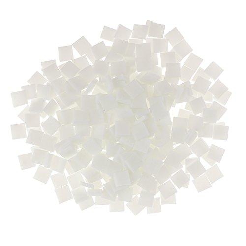 MagiDeal 250x Attrayante Mosaïque en Verre Pour Loisirs Créatif Arts Bricolage Artisanat - Blanc