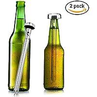 Varillas de refrigeración instantáneas de acero inoxidable para botellas de bebidas, ideales como regalos para