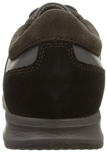 Geox U Avery A, Sneaker Alte Uomo Marrone (Mud/Black)