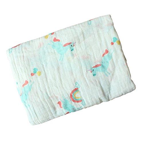 Baby Swaddle Blanket, Baywell Baumwolle Baby Gaze Wrap Decke Pucktücher Niedlich Kostüm Fotoshooting (A1(Pferd))