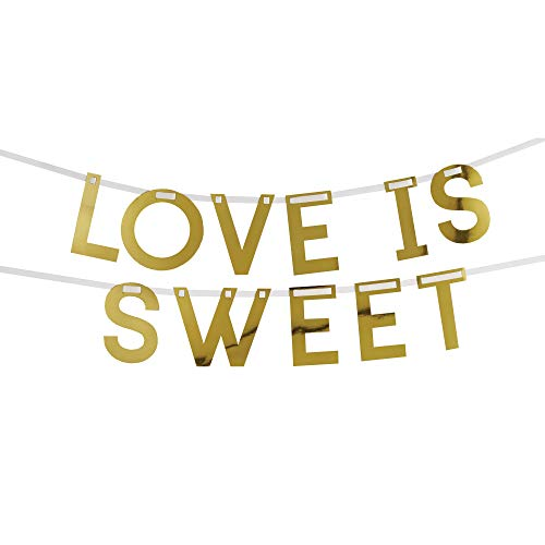 Neviti 775219 Geo Floral-Candy Buffet Girlande, Rosa/Pfirsich/Gold, 10,5 x 7,5 x 10,5 cm